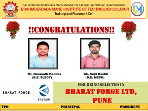 Congratulation_ Bharat Forge Ltd_Pune